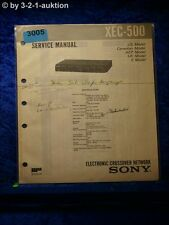 Sony Service Manual XEC 500 Electronic Crossover Network (#3005)