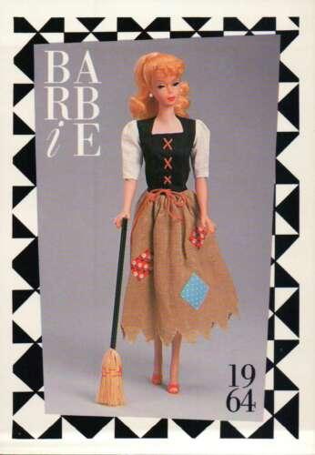 "Broom 1964 Barbie Collectible Fashion Trading Card  /"" Cinderella Poor Dress /"""