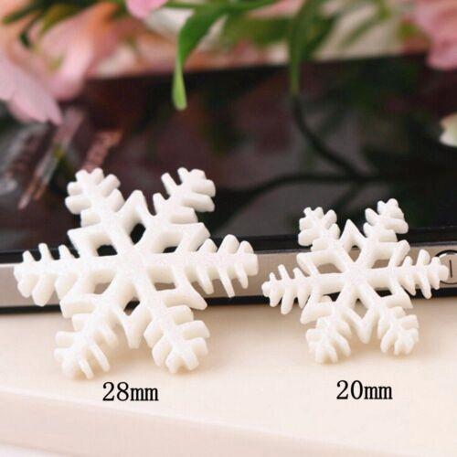 Diy Decoration 10Pcs Merry Christmas Tree HangingResin Frozen Snowflake Cabochon