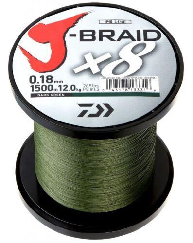 Multi Color Chartreuse Green DAIWA J-BRAID X8-1500m BIG SPOOL All Sizes