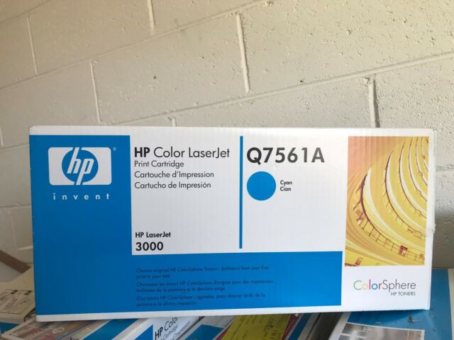 NEW GENUINE Q7561A HP CLJ 3000 PRINT CART CYAN