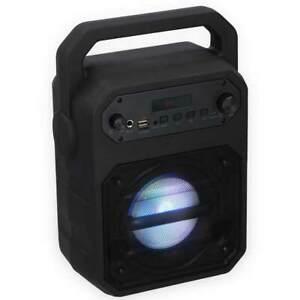 Cassa-Altoparlante-Speaker-9W-Bluetooth-con-Effetti-Luce-LED-USB-Aux-Microfono