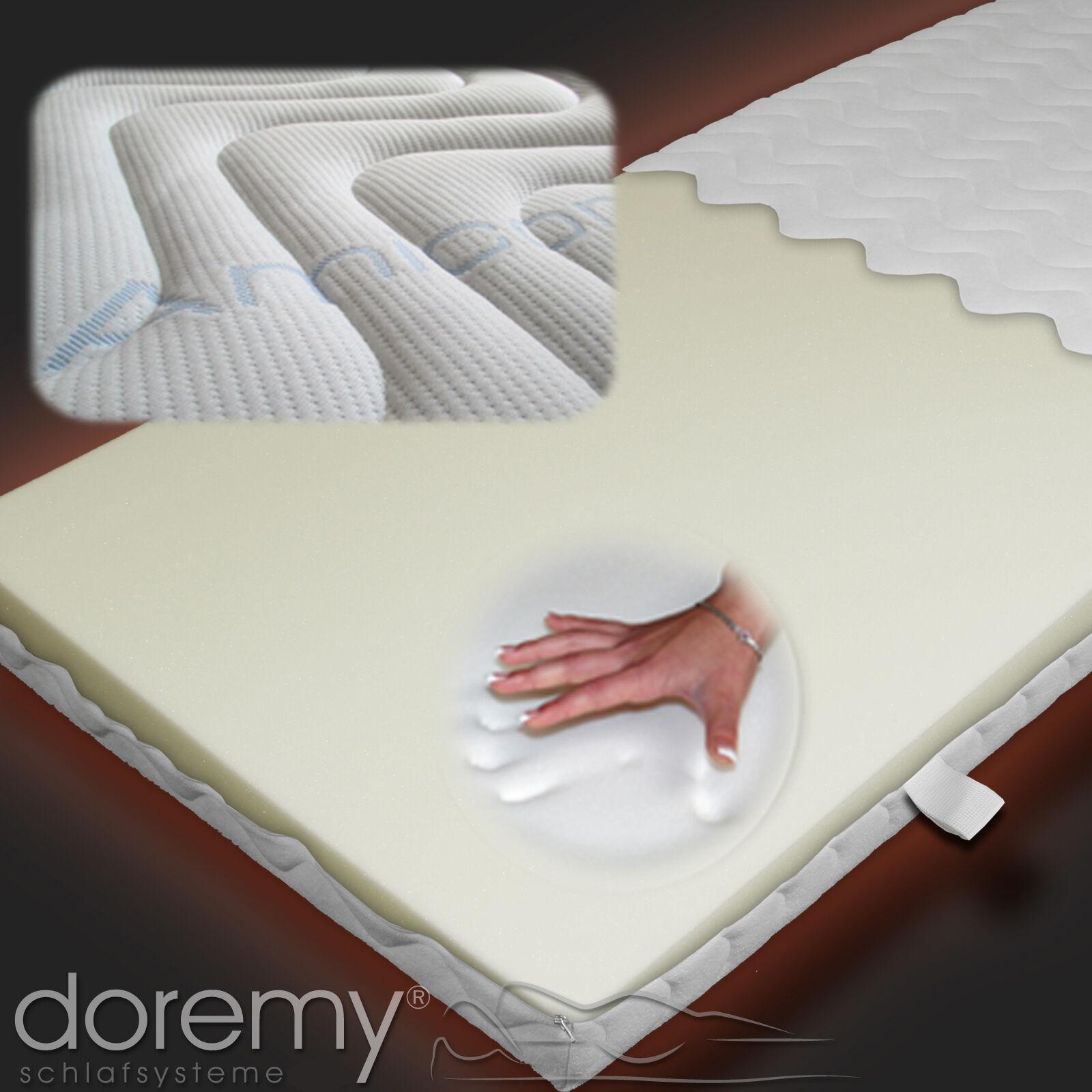 100% Visco Matratzenauflage Topper, memoryfoam Viscoauflage inkl. 1A-Top-Bezug