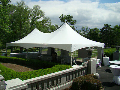 """Commercial party tent George Maser 10-40/"""" tent stakes double head"""