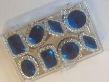8 Edible Sugar Cake Cupcake Jewels Brooch Diamond Decoration SAPPHIRE BLUE