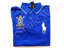 New Ralph Lauren Polo Custom Fit 100% Cotton Blue Big Pony Crested Shirt sz M