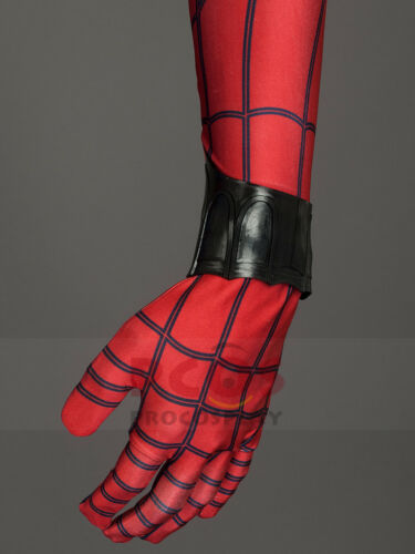 Spider-Man:Homecoming Peter Parker Spider-Man Cosplay Costume /& Boots mp003747