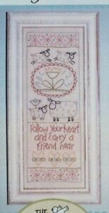 Follow-Your-Heart-pretty-stitchery-PATTERN-includes-fabric-The-Birdhouse