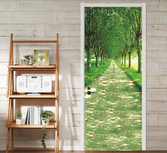 3D árbol Greening Puerta Mural Mural Mural de Pared Foto Pared Adhesivo Calcomanía Pared AJ Wallpaper nos 7220b3