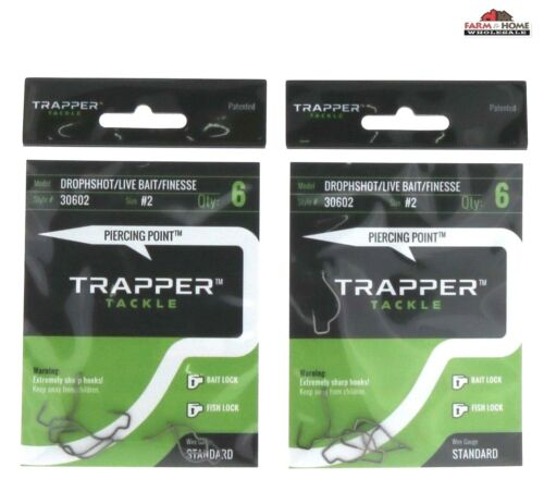 Trapper Tackle Live Bait Hooks #2 ~ 6 Pack ~ New 2