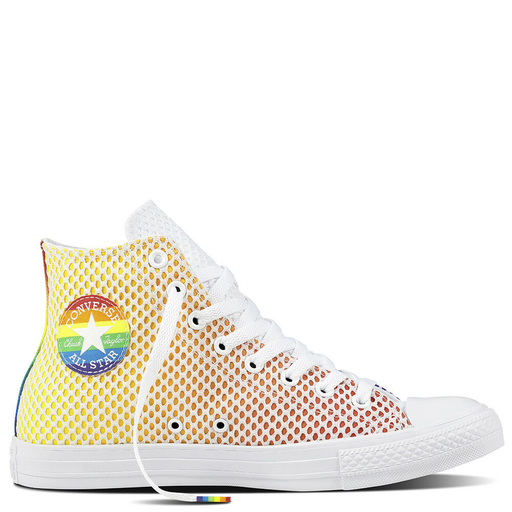 Converse Chuck Taylor Hi All Star Pride LGBT Jaune Bleu Orange Free Shipping