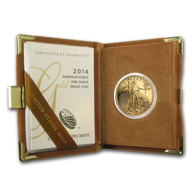 2014-W 1 oz Proof Gold American Eagle Coin - Box and Certificate - SKU #79347