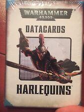 Warhammer 40k Harlequin Harlequins Datacards Data Cards NIB