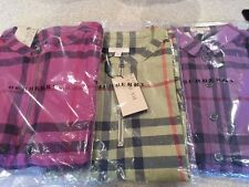 $475 Brand New BURBERRY BRIT PINK   Check Cap Sleeve Shirt Dress Sz UK 6 US 4