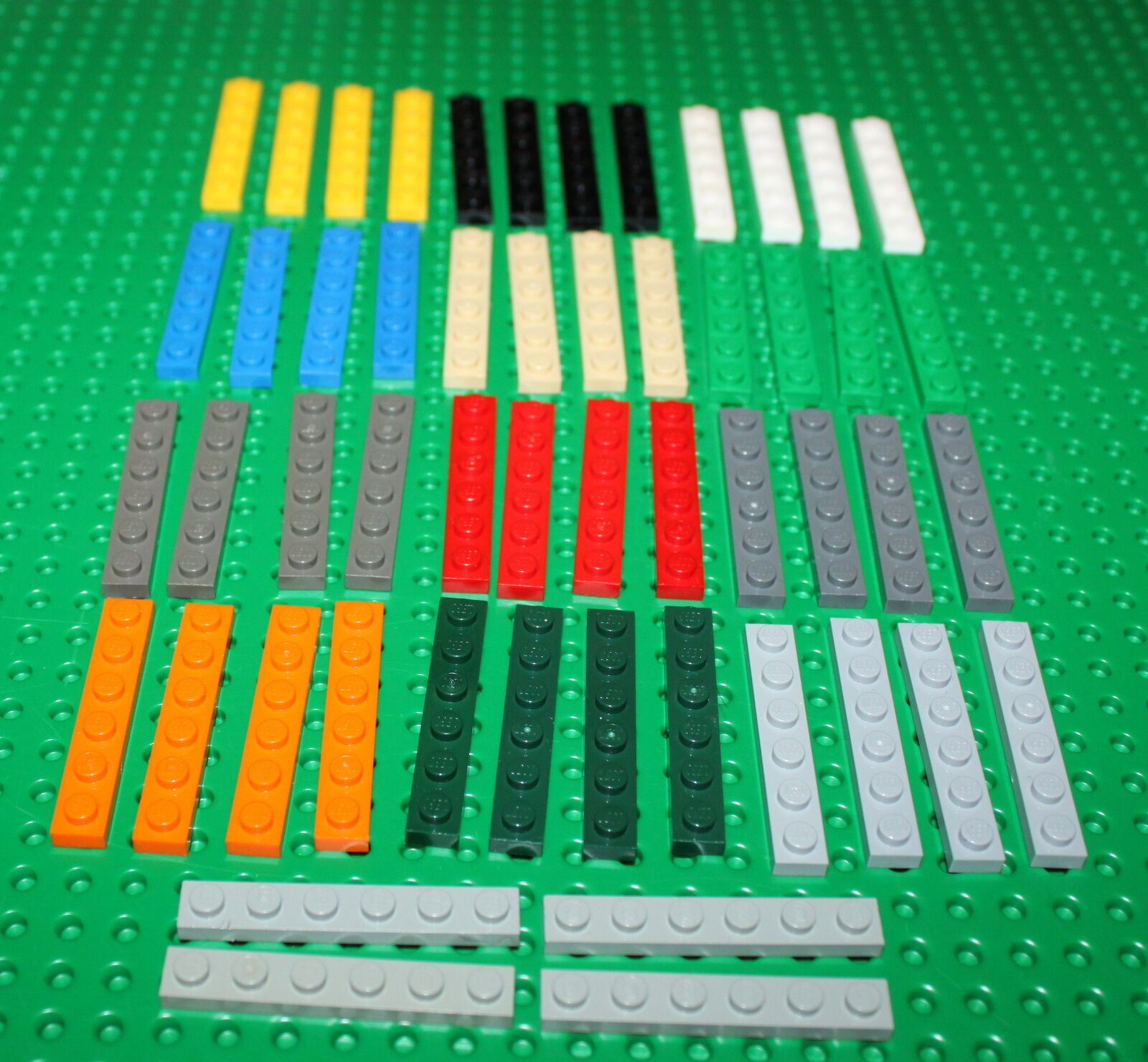 Fliese // Tile 1 x 6 gelb # 6636 4 Stück LEGO