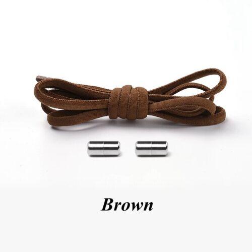 1Pair No tie Shoelaces Round Elastic Shoe Laces For Kids /& Adult Sneakers Shoes