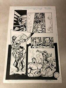 POWER-MAN-IRON-FIST-original-art-Marvel-DEMONICUS-Heroes-Hire-Signed-BART-SEARS