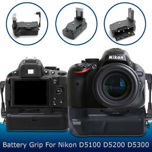 battery grip for nikon d5300 d5200 d5100 dslr camera | ebay