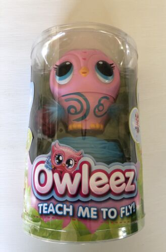 Pink SEALED  Owleez Flying Baby Owl Interactive Toy with Lights and Sounds