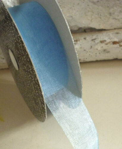 couleur au choix 0,24 € par mètre 25 mm Bande 5 KM Ribbon oranzaband Organza