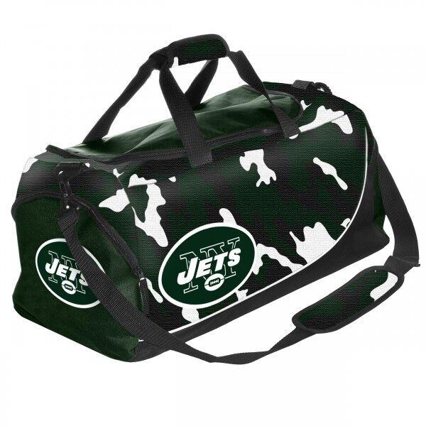 NFL FOOTBALL Nuovo Borsa York Jets NY Borsa Sportiva Borsa Nuovo BAG MIMETICO CAMO Duffle eb7fe2