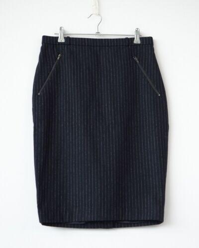 WEEKDAY Cherry Pinstripe skirt wool navy//ROCK Rayures Bleu foncé S Hof115