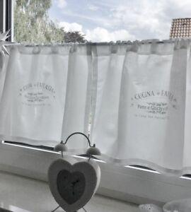 Dettagli su SHABBY Chic Tenda * cucina * Landhaus Cucina Vintage BISTROT  vetri Tenda- mostra il titolo originale