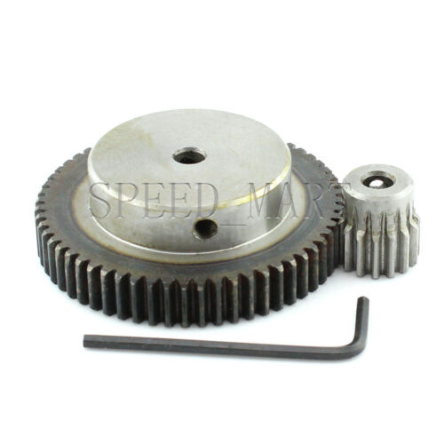 1M60T-15T Module 1 Motor Metal Gear Wheel Set Kit Ratio 4:1 Wheelbase 37.5mm