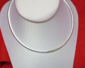 STERLING-SILVER-EP-4MM-OMEGA-NECKLACE-18-20-INCHES-CHAIN