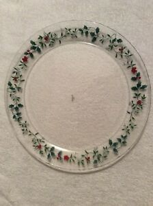 Pfaltzgraff-Winterberry-Round-Serving-Platter-Parties-Holly-Christmas-Holiday