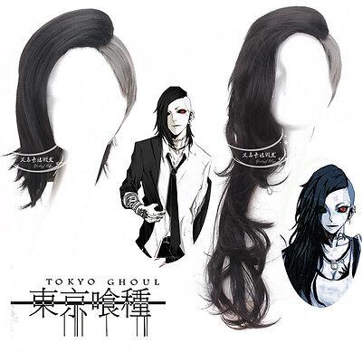 New Anime Tokyo Ghoul uta Masker Hair Men Black Gray Cosplay Full wigs Caps M200