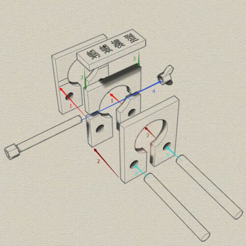Mini Hull Planking Tools //Clamps for wooden model ship kit