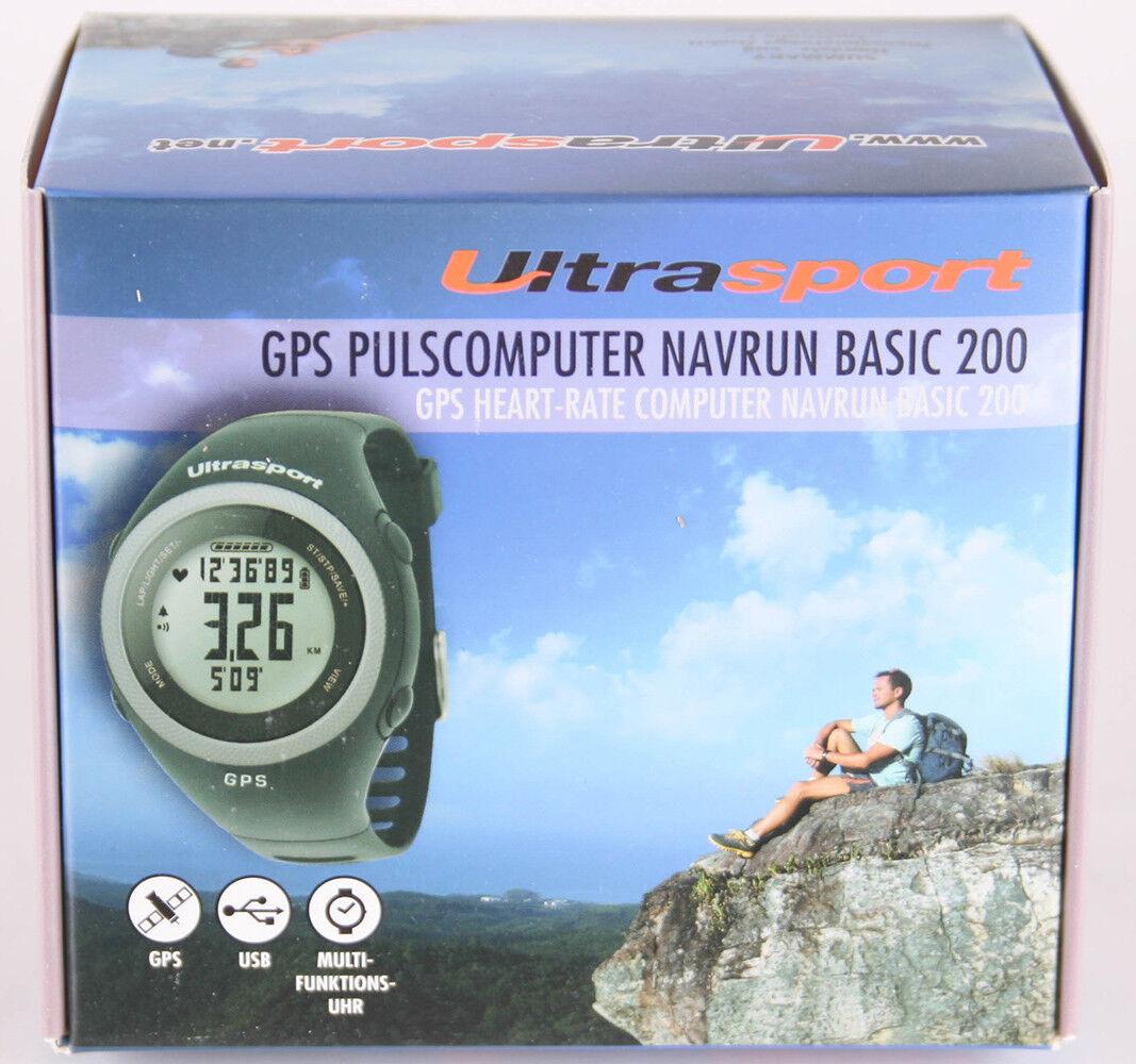 Ultrasport GPS Pulscomputer NavRun Basic 200 Farbe Schwarz