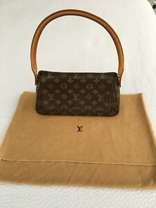 Image is loading Louis-Vuitton-Monogram-Canvas-Looping-Mini-Hand-Bag- ce968df0f0e42