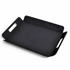 Black Plastic High Quality Design Serving Tray Food