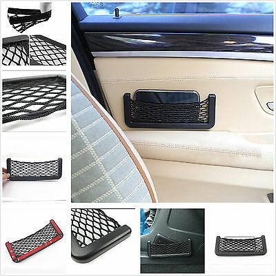 Portable Car Storage Elastic Net Bag Used Organize iPhone 6 Coins Card Sundries