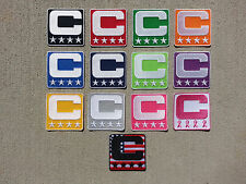 5bf38b09068 Captain C Patch for Jersey Football Soccer Baseball Hockey Lacrosse - PICK  COLOR