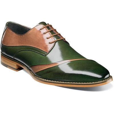 Stacy Adams Talmadge Men/'s Folded Vamp Dress Shoes Dk Green//Multi 25193-348