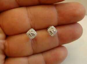 SQUARE-CLUSTER-STUD-EARRINGS-W-LAB-DIAMOND-ACCENTS-925-STERLING-SILVER