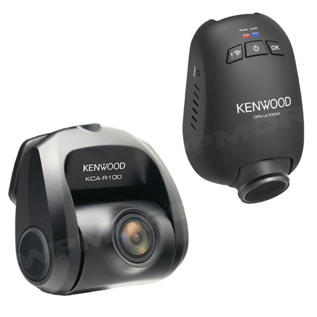 Kenwood DRV-A700WDP Compact HD Dash cam with Wi-Fi and GPS /— Includes Rear-View cam