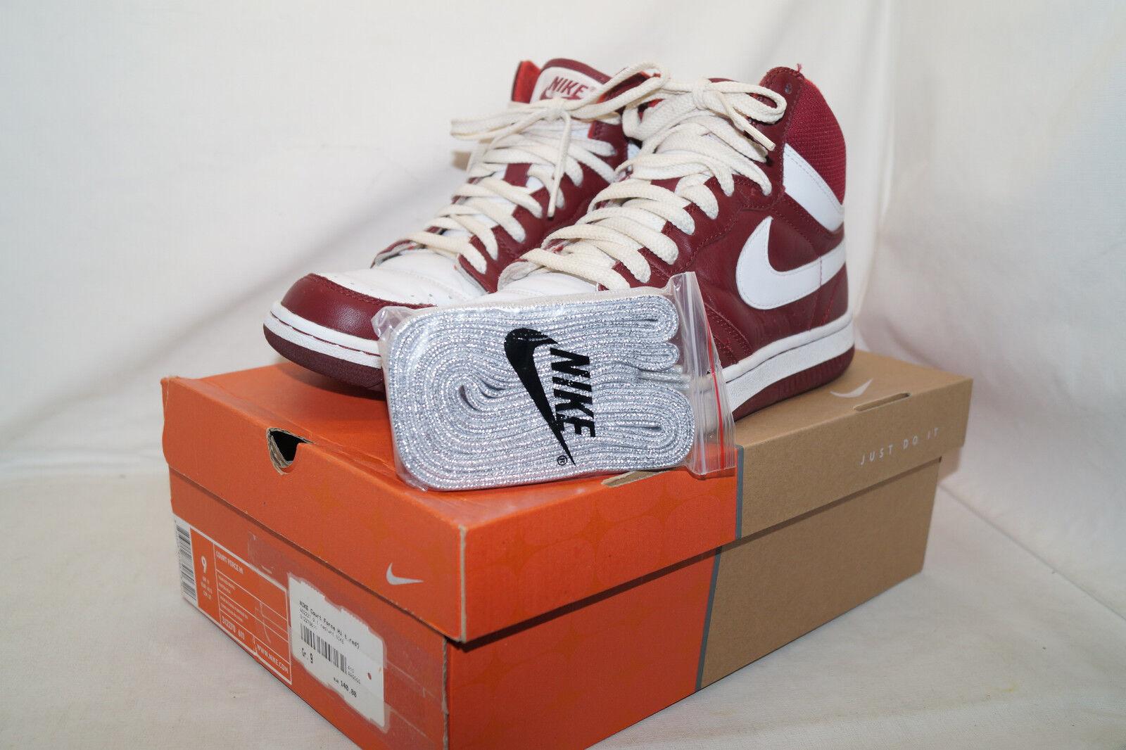 Nike Court Force Hi 2005 talla 42,5 uk.8 rojo Weiss 312270 611