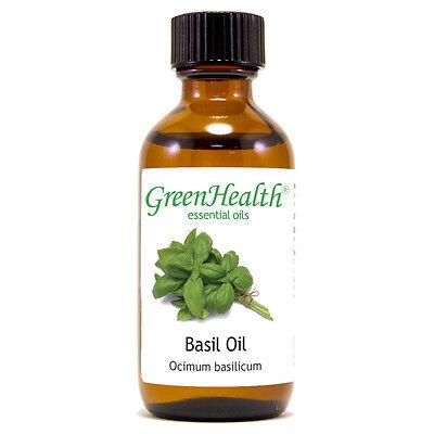 2 fl oz Basil Essential Oil (100% Pure & Natural) - GreenHealth
