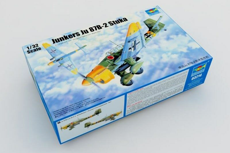 Trumpeter Aircraft German Junkers JU 87B-2 Stuka Bomber Model 03214 1 32 Scale