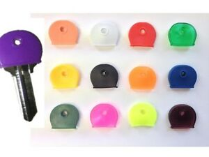 1 - 100 Key Caps Assorted Colours Top Head Covers ID Tag Cap Ring Keyring