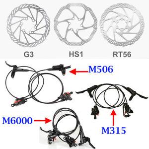 Shimano-Deore-M6000-M315-M506-MTB-Hydraulic-Disc-Brake-Set-G3-HS1-RT56-Rotors