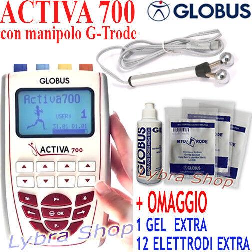 Globus ACTIVA 700 elettrostimolatore manipolo G Trode VISO e CORPO