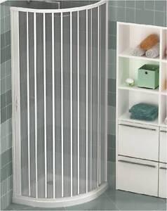 pvc duschkabine kunststoff viertelkreis runddusche duschabtrennung 90x90 80x80 ebay. Black Bedroom Furniture Sets. Home Design Ideas