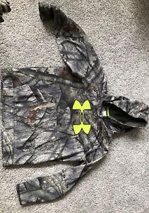 under armor sweatshirt boys YLG  mossy oak freestand