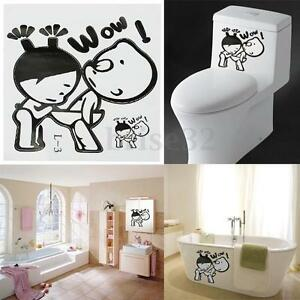 Toilet Decal Decor Bathroom Ensuit Vinyl Wall Sign Funny Cute Sticker