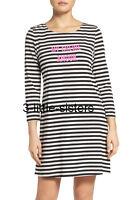 Kate Spade Classic My Cherie Amour Night Shirt Nightgown L Black Cream